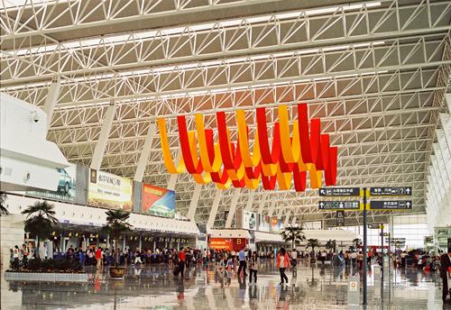 武汉天河机场内景   武汉天河国际机场于1990年12月
