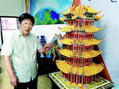"""凤凰,花瓶,花篮等几十件三角插(又叫""""立体折纸"""",""""3d折纸"""")折纸艺术品."""