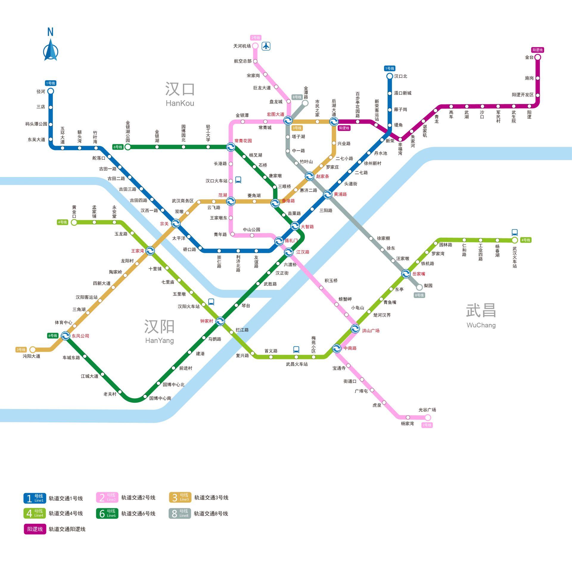 地铁集团获悉,轨道交通8号线,阳逻线,1号线径河延伸线开通时间敲定,为